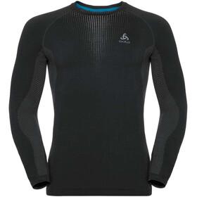 Odlo Suw Performance Warm T-shirt manches longues à col ras-du-cou Homme, black-odlo concrete grey